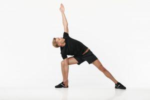 man doing lunge stretching