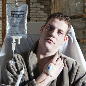 dying man with terminal illness