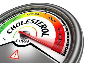 cholesterol meter on alarming level