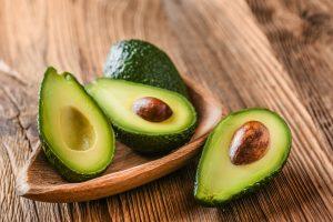 fresh avocado halves rich in fiber