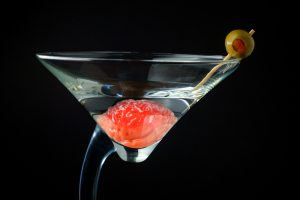 brain in martini