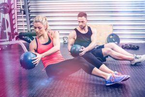 couple workout buddies