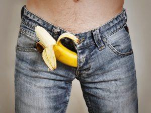 banana representing erection